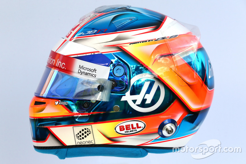 Helm von Romain Grosjean, Haas F1 Team