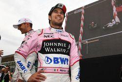 Esteban Ocon, Sahara Force India F1, Sergio Perez, Sahara Force India