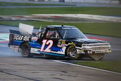 Jordan Anderson, Rick Ware Motorsports Chevrolet wreck
