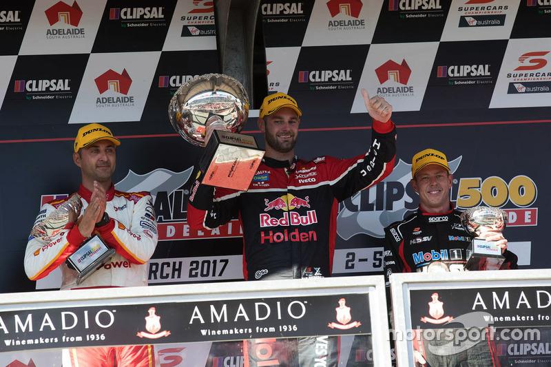 Podium: 1. Shane van Gisbergen, Triple Eight Race Engineering, Holden; 2. Fabian Coulthard, Team Penske, Ford; 3. James Courtney, Holden Racing Team