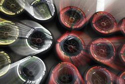 Soft, medium and super-soft Pirelli tyres