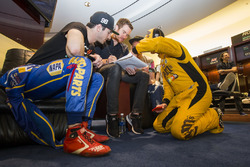 Alexander Rossi and Kyle Busch