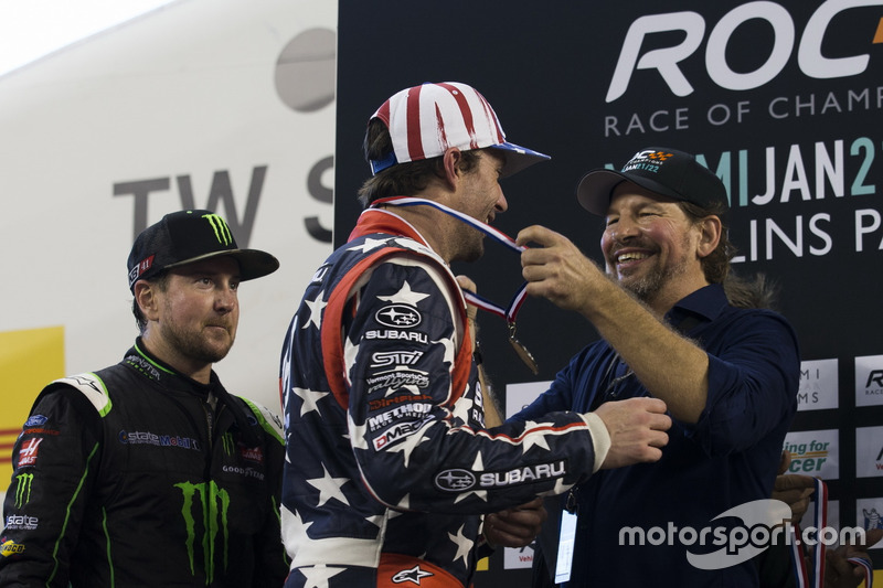 Travis Pastrana and Kurt Busch, on the podium
