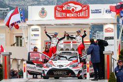 Second place Jari-Matti Latvala, Miikka Anttila, Toyota Yaris WRC, Toyota Racing
