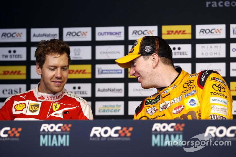 Conferencia de prensa con Sebastian Vettel y Kyle Busch