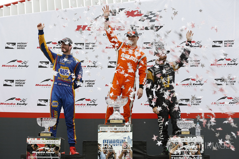 Podium: 1. Josef Newgarden, Team Penske; 2. Alexander Rossi, Herta - Andretti Autosport; 3. James Hi