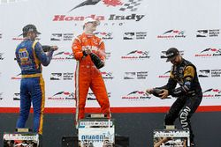 Podium: winner Josef Newgarden, Team Penske, second place Alexander Rossi, Herta - Andretti Autospor