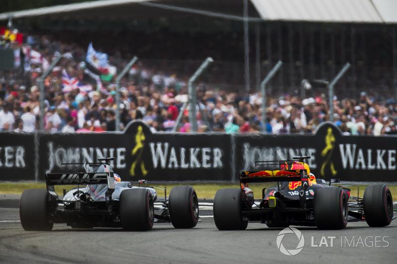Даніель Ріккардо, Red Bull Racing RB13, Ромен Грожан, Haas F1 Team VF-17