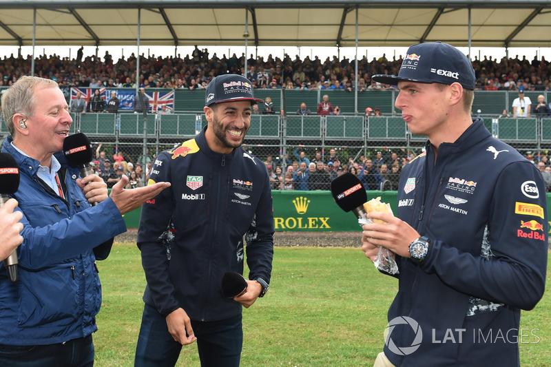 Martin Brundle, Sky TV, Daniel Ricciardo, Red Bull Racing and Max Verstappen, Red Bull Racing