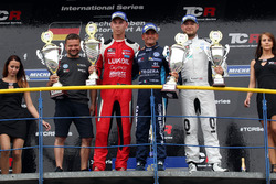 Podium: Race winner Gianni Morbidelli, West Coast Racing, Volkswagen Golf GTi TCR, second place Daniel Lloyd, Lukoil Craft-Bamboo Racing, SEAT León TCR, third place Rob Huff, Leopard Racing Team WRT, Volkswagen Golf GTi TCR
