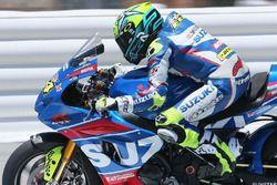 Toni Elías, equipo Suzuki en acción Laguna Seca