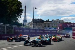 Nelson Piquet Jr., NEXTEV TCR Formula E Team, devance Jérôme d'Ambrosio, Dragon Racing, et Lucas di Grassi, ABT Schaeffler Audi Sport