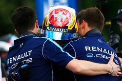 Il vincitore della gara Sébastien Buemi, Renault e.Dams