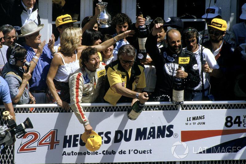 1984 Le Mans 24 Hours - Podium: Klaus Ludwig, Henri Pescarolo, Porsche 956