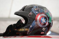 Gaurav Gill helmet, Team MRF