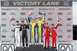 GTD podium: winners Jesse Krohn, Jens Klingmann, Turner Motorsport