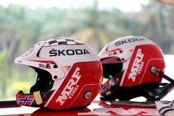 Helmets of Ole Christian Veiby, Stig Rune Skjærmoen, Team MRF