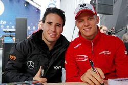 Joey Mawson, Van Amersfoort Racing, Dallara F317 - Mercedes-Benz, Mick Schumacher, Prema Powerteam,