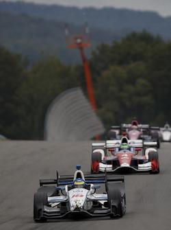 Sébastien Bourdais, Dale Coyne Racing Honda met schade na de aanrijding met Josef Newgarden, Team Pe