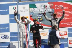 Podio GTCup gara 1, Francesco La Mazza (Easy Race,Ferrari 458-GT3 #79), Baccarelli-Ferrara (Caal Rac