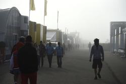 Туман в паддоке