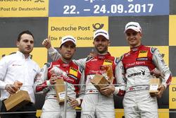 Podium: 1. René Rast, Audi Sport Team Rosberg, Audi RS 5 DTM; 2. Mike Rockenfeller, Audi Sport Team Phoenix, Audi RS 5 DTM; 3. Nico Müller, Audi Sport Team Abt Sportsline, Audi RS 5 DTM