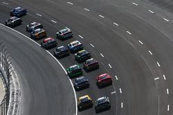 Elliott Sadler, JR Motorsports Chevrolet, leads a group of cars
