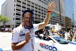 Fernando Alonso, Andretti Autosport, Honda, mit Maske von Tony Kanaan