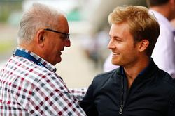 Nico Rosberg, et Alan Webber, le père de Mark