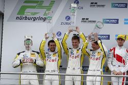 Podium: tweede #98 Rowe Racing, BMW M6 GT3: Markus Palttala, Nicky Catsburg, Richard Westbrook, Alex