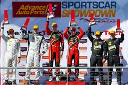 PC podium: winners James French, Patricio O'Ward, Performance Tech Motorsports, second place Stefan Wilson, Nicholas Boulle, BAR1 Motorsports, Don Yount, Buddy Rice, BAR1 Motorsports