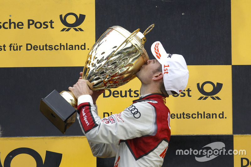 Подіум: переможець гонки Джеймі Грін, Audi Sport Team Rosberg, Audi RS 5 DTM
