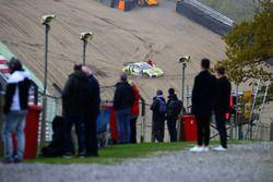 Daniel Rymes, Peter Terting, TM-Racing.org, Porsche Cayman CS MR GT4 crash
