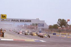 Start: Nigel Mansell, Williams FW11B Honda, Alain Prost, McLaren MP4/3 TAG Porsche, Nelson Piquet, W