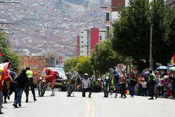 #8 Himoinsa Racing Team, KTM: Gerard Farrés; #87 Team Pedrega, KTM: Cristian España; #12 Sherco TVS