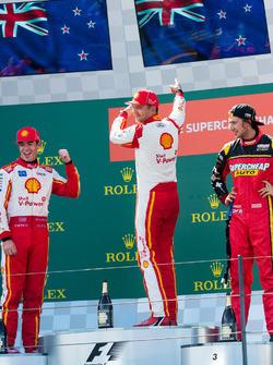 Podium: winner Scott McLaughlin, Team Penske Ford, second place Fabian Coulthard, Team Penske Ford,