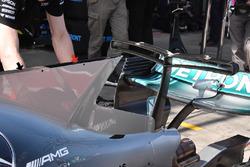 L'aileron de requin cheminée de la Mercedes AMG F1 W08