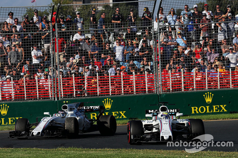 Felipe Massa, Williams FW40; Lance Stroll, Williams FW40