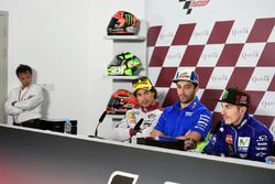 Loris Capirossi; Franco Morbidelli, Moto2-Polesitter; Andrea Iannone, Team Suzuki MotoGP; Maverick V