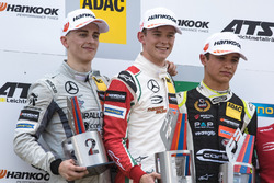 Podium, Jake Hughes, Hitech Grand Prix, Dallara F317 - Mercedes-Benz, Callum Ilott, Prema Powerteam,