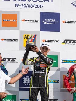 Podium: Race winner, Lando Norris, Carlin, Dallara F317 - Volkswagen