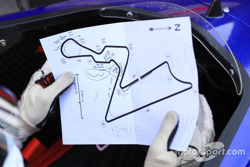 Detalle del diseño de pista