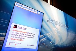 Twitter feed at the press conference