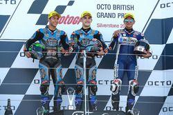 Podium : le vainqueur Aron Canet, Estrella Galicia 0,0, le deuxième Enea Bastianini, Estrella Galicia 0,0, le troisième Jorge Martin, Del Conca Gresini Racing Moto3
