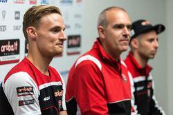 Marco Melandri, Ducati Team, Chaz Davies, Ducati Team, Ernesto Marinelli, Ducati Superbike Proje Dir