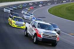 Pace laps with the Toyota pace truck