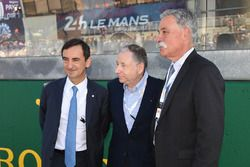 Pierre Fillon, ACO President, Jean Todt, FIA President, Chase Carey, CEO FOM