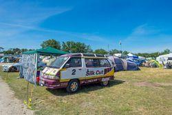 Zona de acampada en el circuito