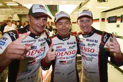 Polesitters #7 Toyota Gazoo Racing Toyota TS050 Hybrid: Mike Conway, Kamui Kobayashi, Stéphane Sarra