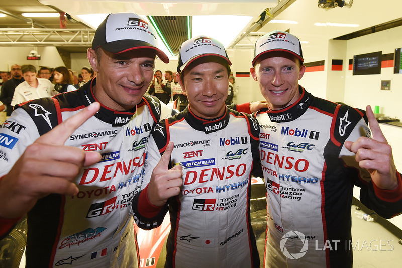Polesitter: #7 Toyota Gazoo Racing Toyota TS050 Hybrid: Mike Conway, Kamui Kobayashi, Stéphane Sarrazin
